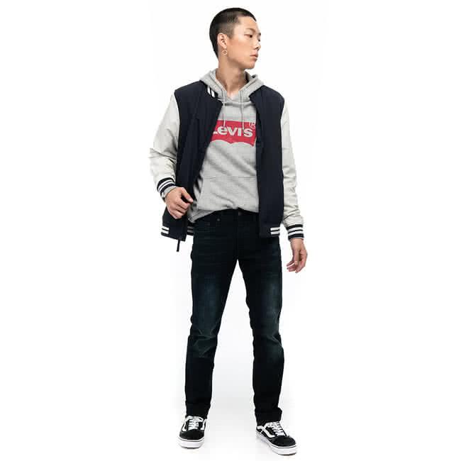 【Levis】511 修身窄管丹寧牛仔褲 / 深色刷白