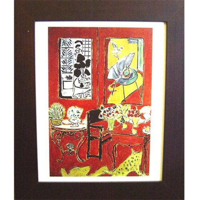 【開運陶源】Matisse的抽象畫4-(紅色室內景)