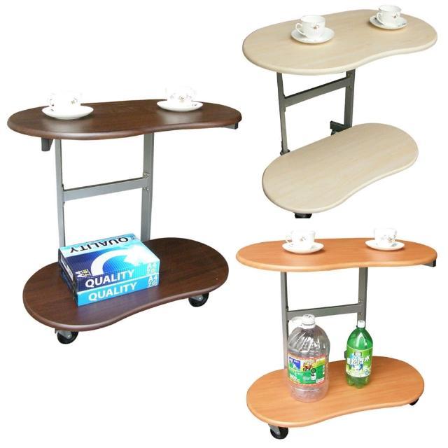 【美佳居】耐重型(雙層)活動式餐桌-邊桌(三色可選)