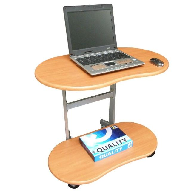【美佳居】耐重型(雙層)活動式電腦桌-邊桌(三色可選)