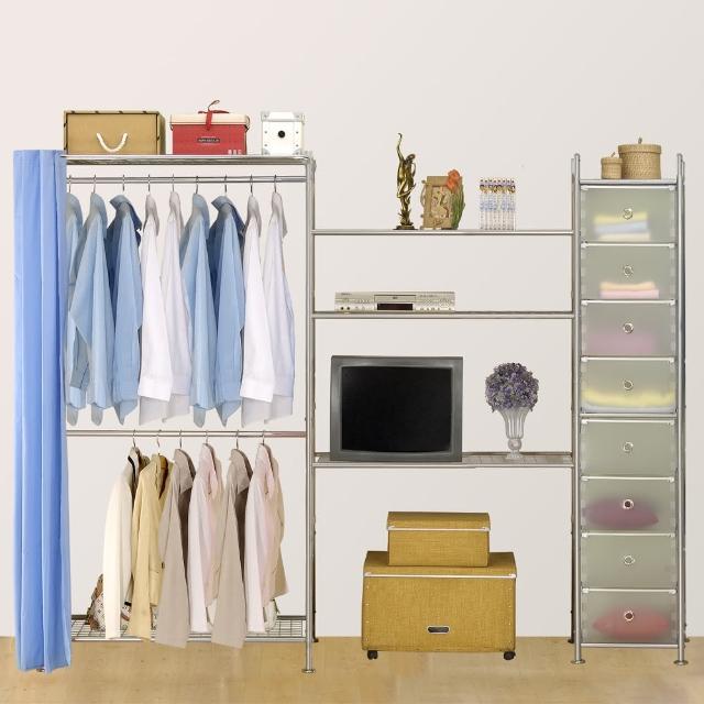 【巴塞隆納】W2型90+90+D電視衣櫥置物櫃