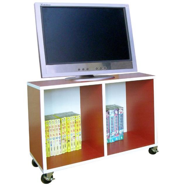 【美佳居】寬60公分-耐重型(活動式)電視櫃-收納櫃-書櫃-置物櫃-紅白色(附四個工業輪)