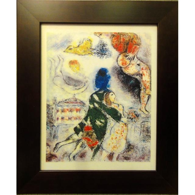 【開運陶源】Marc CHAGALL馬克夏卡爾的畫-(歌劇院的人物)