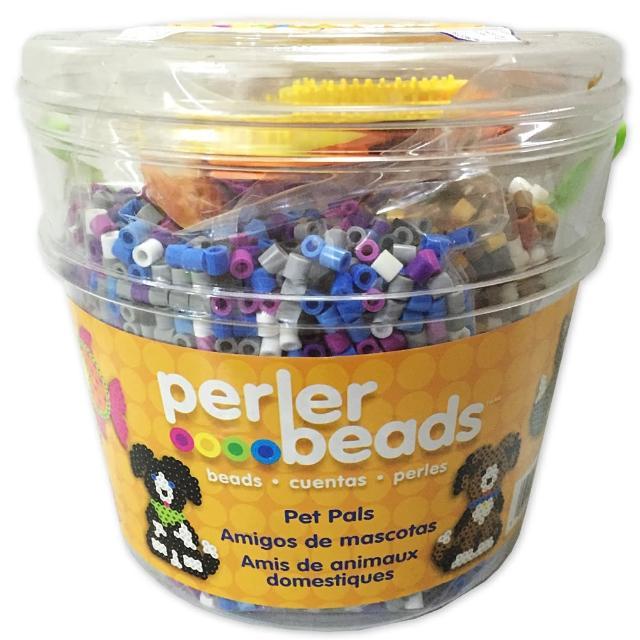 【Perler 拼拼豆豆】我的寵物 8500 顆拼豆組合桶(造型板-3)
