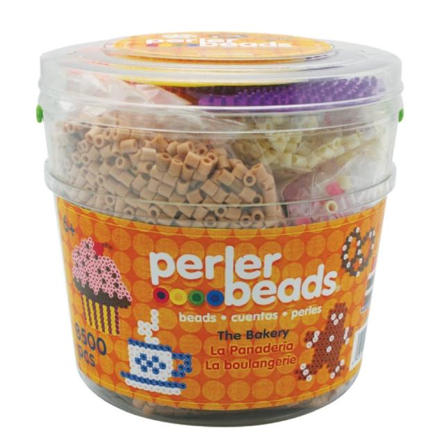 【Perler 拼拼豆豆】蛋糕甜點 DIY 8500 顆拼豆組合桶(模型板-3)