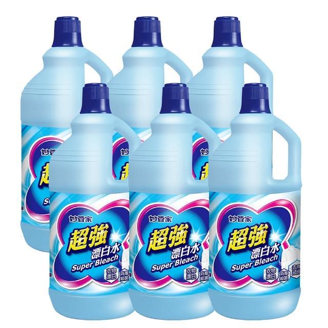 【妙管家】超強漂白水無磷原味(2000gm-入-共6入-箱)