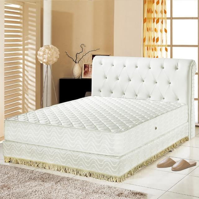 【睡芝寶】乳膠抗菌3M防潑水護邊獨立筒床墊(雙人5尺)