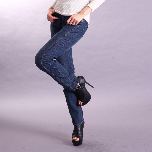 【RH】中腰復古藍真3D細身剪裁牛仔褲(修身復古藍色全尺寸S-M-L)