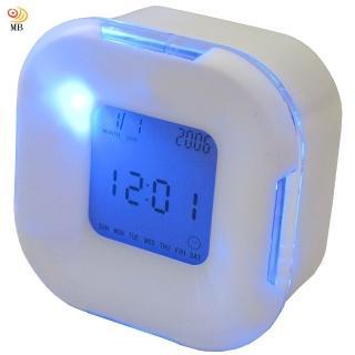 【月陽】超炫多功能萬年曆溫度計計時器四面鐘鬧鐘(UI2606)