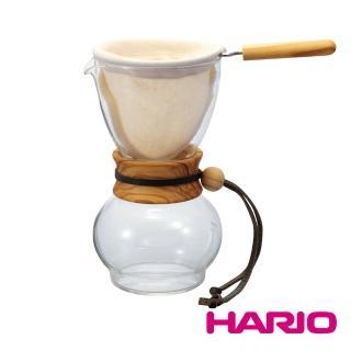 【HARIO】濾布欖橄木手沖咖啡壺240ml 1-2杯(DPW-1-OV)