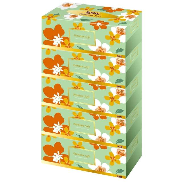 【五月花】親肌感盒裝面紙 200抽x5盒x10串-箱