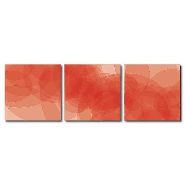 【123點點貼】三聯式藝術創意無痕壁貼(J40206)