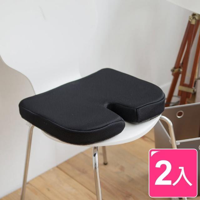 【樂活主義】舒壓多功能太空記憶棉坐墊2入組(3色可選)