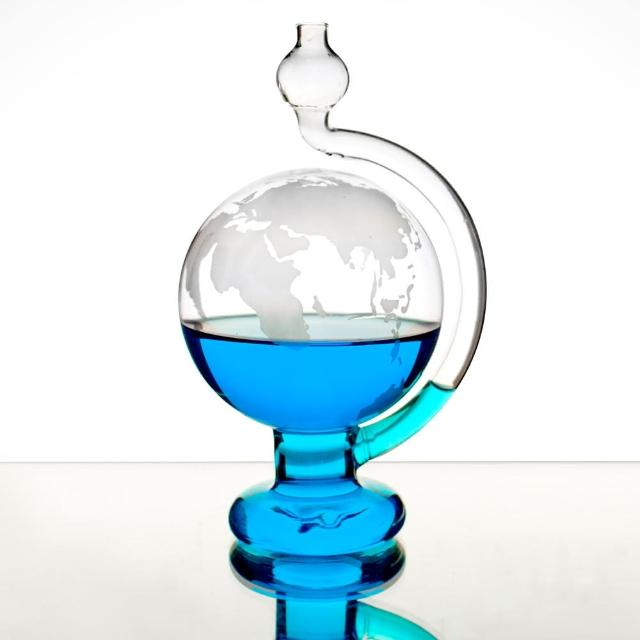 【賽先生科學】天氣預報球-玻璃氣壓球-晴雨儀(世界地圖版)