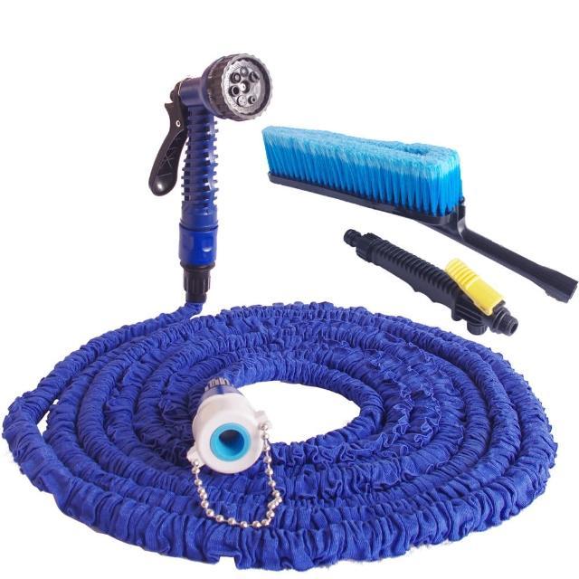 彈力伸縮水管清潔組-汽車清潔組(加贈超細纖維大擦車巾2條)