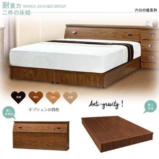【Maslow-房東精選】雙人5尺床頭箱+耐重6分床底(4色)