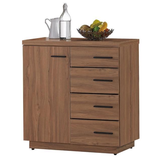 【顛覆設計】堤比2.7尺柚木色餐櫃下座
