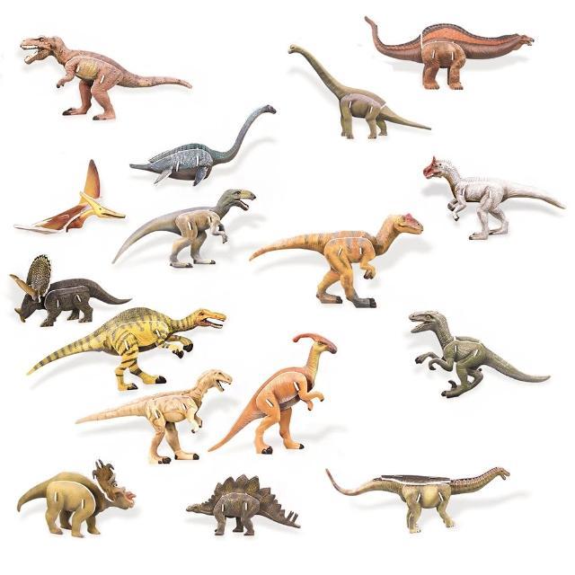 【FUN PUZZLE】3D拼圖-恐龍組合