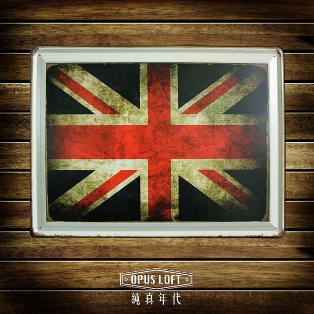 【OPUS LOFT純真年代】30X40仿舊鐵皮畫-壁飾-壁貼(TP2003 英國國旗)