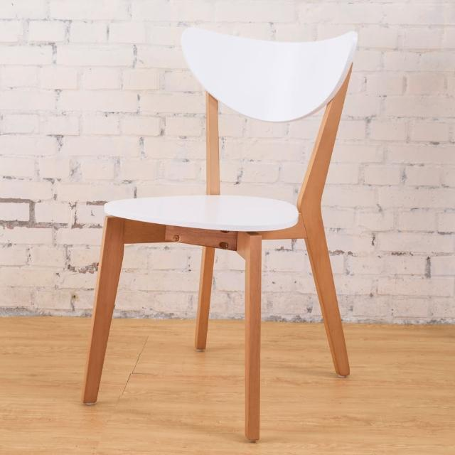 【Bernice】艾莉森白色餐椅(2入組)