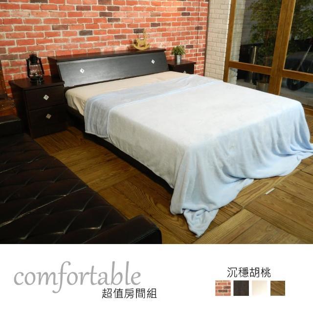 【時尚屋】喬伊絲床箱型3件房間組-床箱+床底+床頭櫃1個-四色可選(1WG5-48W)
