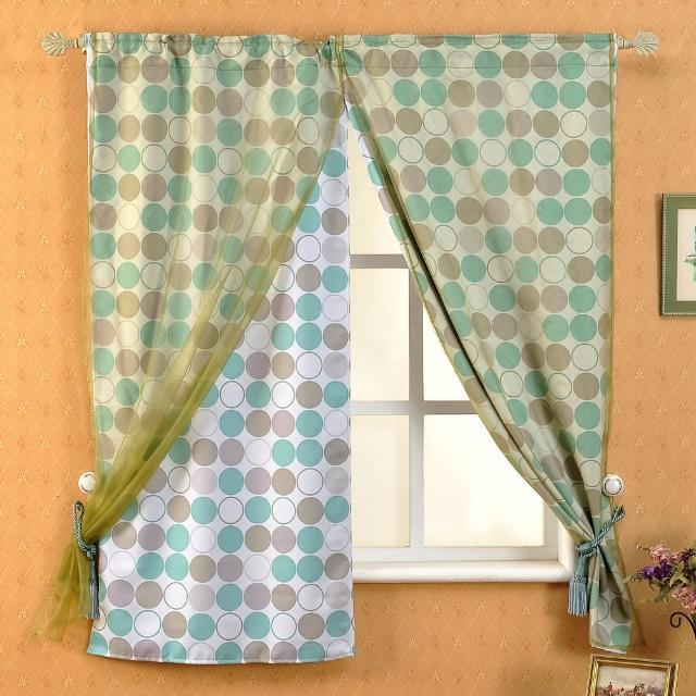 【芸佳】和風綠園遮光窗簾(140-160cm)