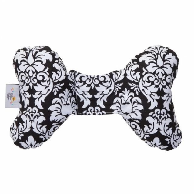 【Baby Elephant Ears】推車汽座寶寶護頸枕-護頸蝴蝶枕 - 黑白復古圖騰 ZAEE30100(快速到貨)