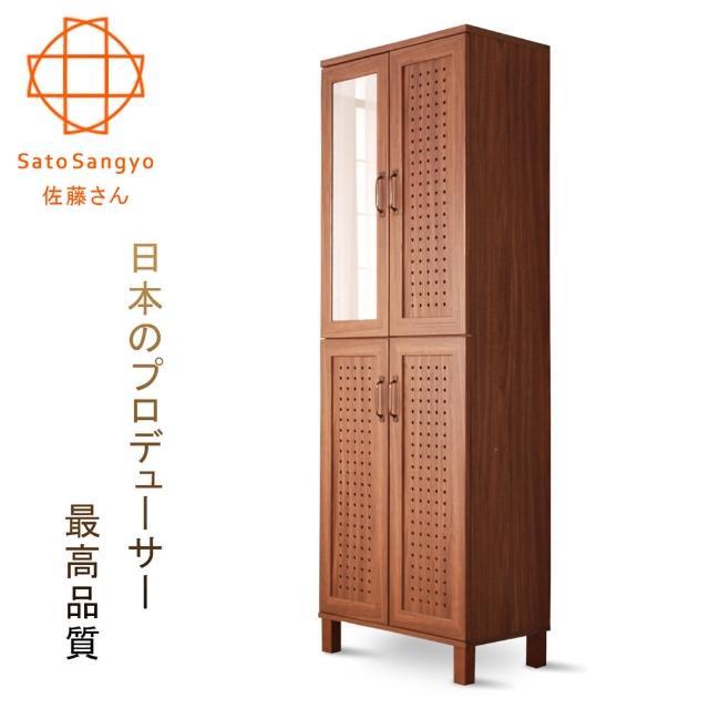 【Sato】GENKA時間絮語四門鏡面高鞋櫃-幅58cm(鞋櫃)