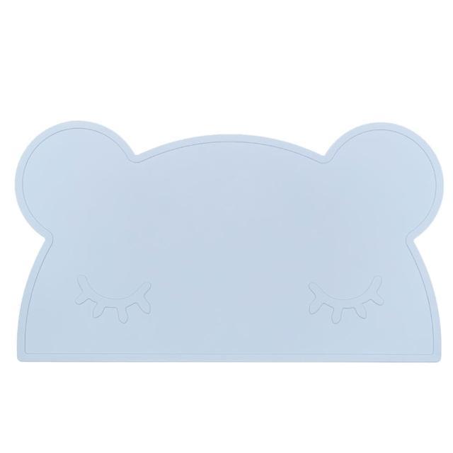 【澳洲We Might Be Tiny】矽膠防滑餐墊熊寶寶-粉藍(餐墊)