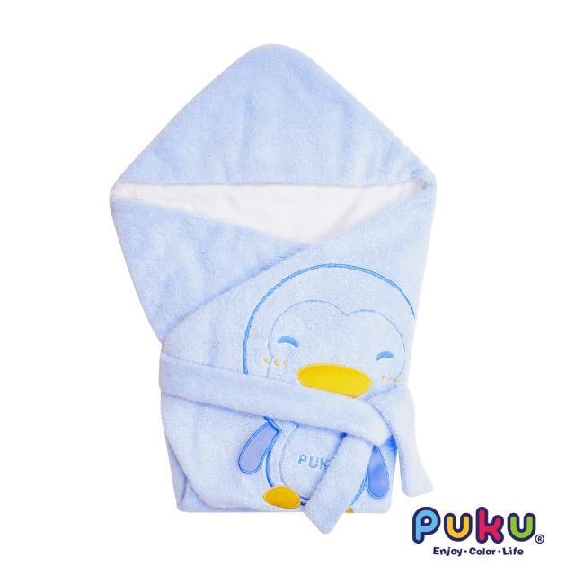 【PUKU藍色企鵝】秋冬暖暖包巾尺寸F(水色)