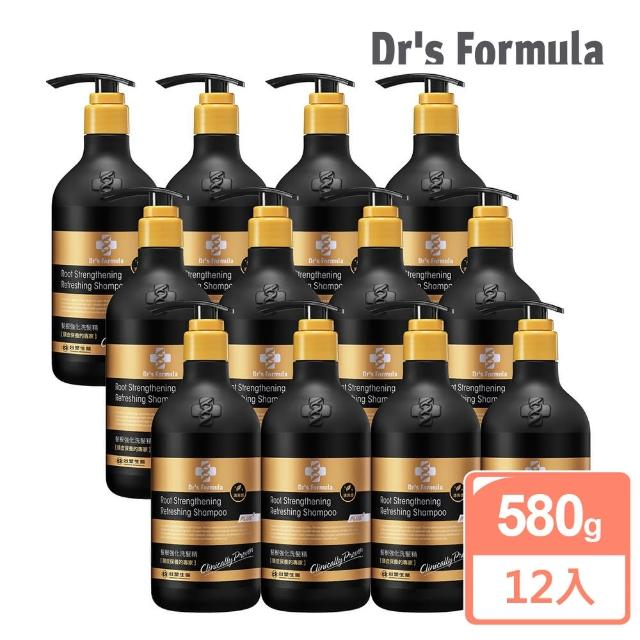 【台塑生醫Dr's Formula】髮根強化洗髮精 清爽感-升級版(580g-12入)