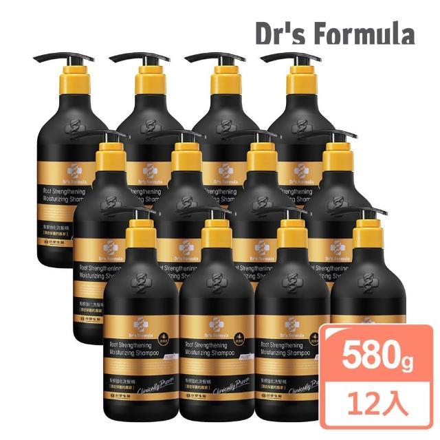 【台塑生醫Dr's Formula】髮根強化洗髮精 潤澤感-升級版(580g-12入)
