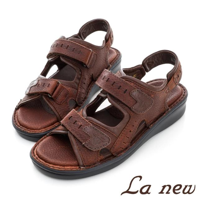【La new】雙密度氣墊涼鞋(男214055024)