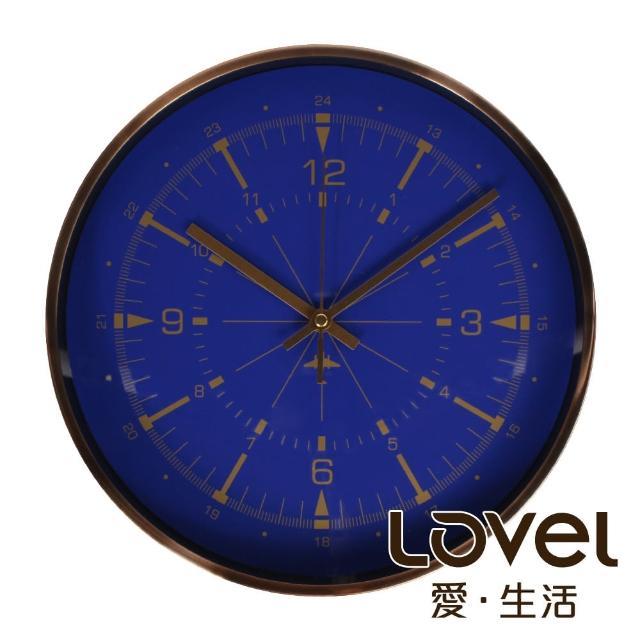 【LOVEL】30cm月光藍雙刻度靜音機芯壁掛時鐘(T721AP-BL)
