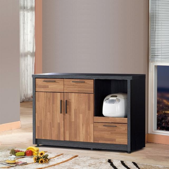 【樂和居】楓尚4尺雙色碗盤櫃-櫥櫃(下座)