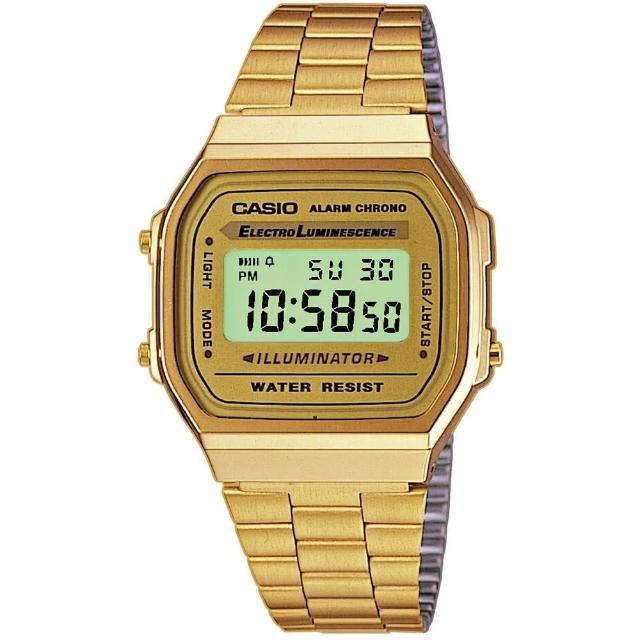 【CASIO】回到未來方款經典電子錶(A-168WG-9)