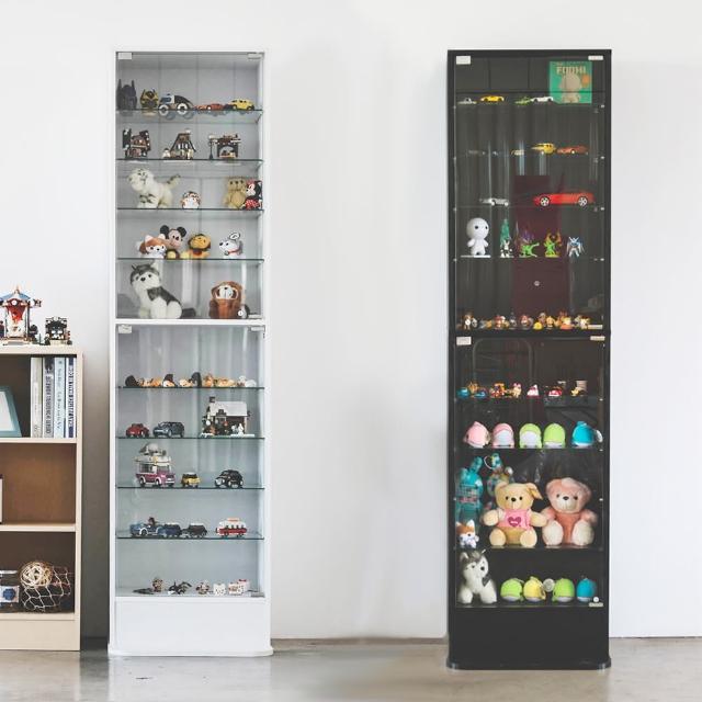 【樂活主義】加高180cm直立式玻璃櫃-展示櫃-公仔櫃-模型櫃-收納櫃(兩色可選)