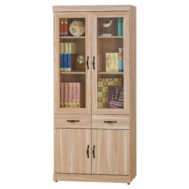 【Bernice】彼得2.6尺四門二抽書櫃
