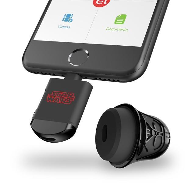 【亞果元素】DARTH VADER 星際大戰黑武士 iOS-microSD 雙介面讀卡機(不含記憶卡)