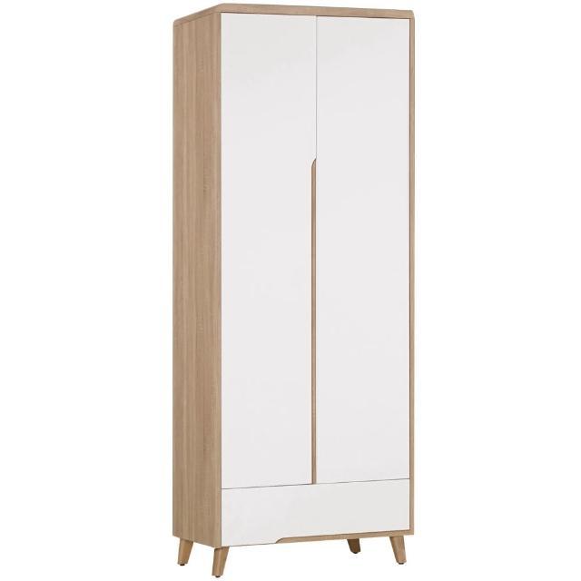 【Bernice】萊羅2.5尺二門一抽衣櫃