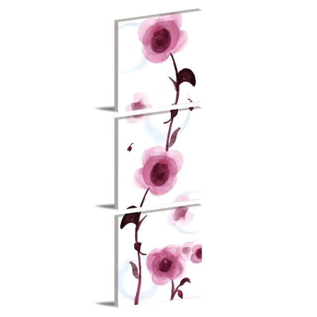 【123點點貼】三聯式無痕壁貼防潑水重覆黏貼不殘膠藝術創意壁飾-30x30cm(1611889)