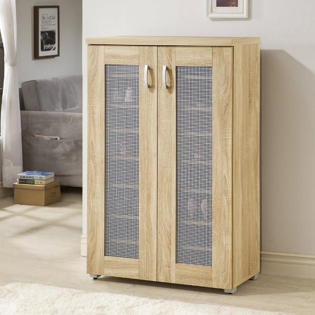【MASTER】透氣雙門高鞋櫃-3D木紋淺木色(鞋櫃-收納櫃)