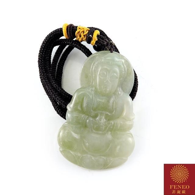 【菲鈮歐】冰種寶瓶觀音A貨翡翠項鍊(1828)