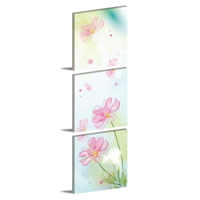 【123點點貼】三聯式無痕壁貼防潑水重覆黏貼不殘膠藝術創意壁飾-30x30cm(1811945-3)