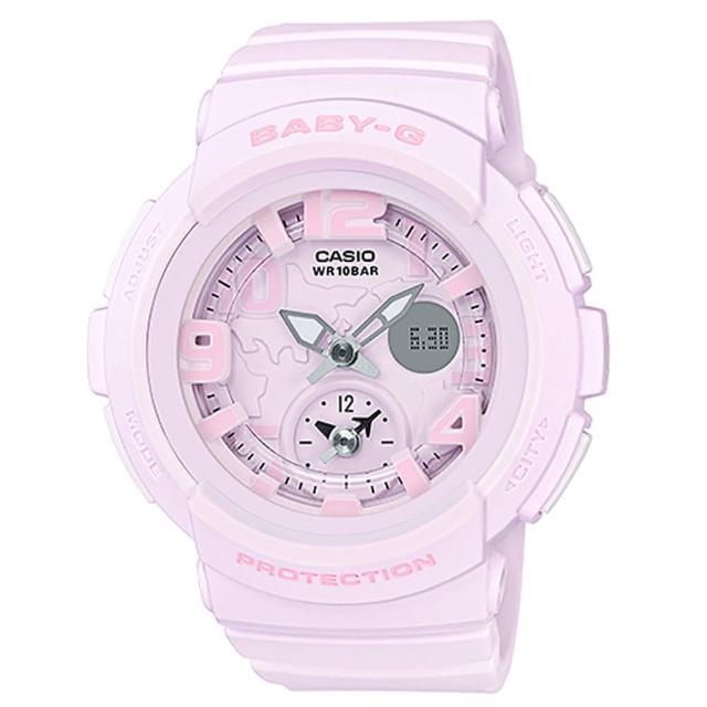 【CASIO】BABY-G 沙灘時光旅行者系列雙顯錶(BGA-190BC-4B)