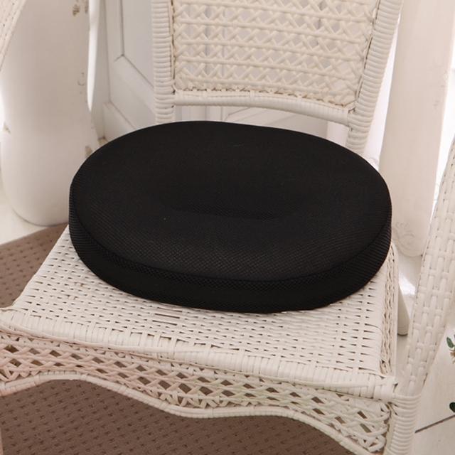 【原生良品】日系O型高回彈美臀坐墊-椅墊(黑色)