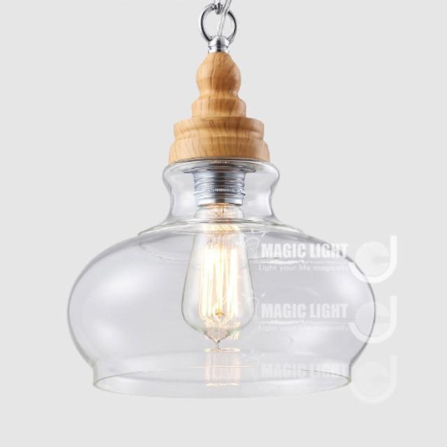 【光的魔法師 Magic Light】設計師創意復古個性 吊燈餐廳酒吧 咖啡廳燈具 燈飾 木紋水晶吊燈(橢圓C)