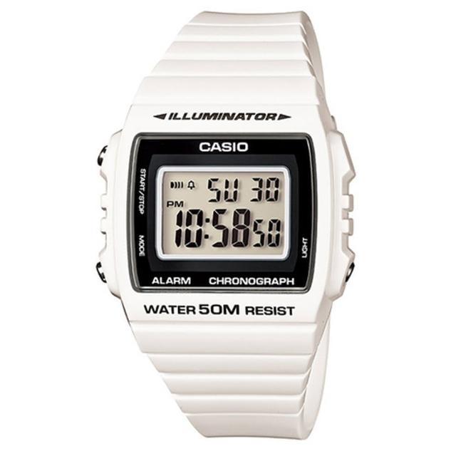 【CASIO】亮眼大螢幕數位錶(W-215H-7A)