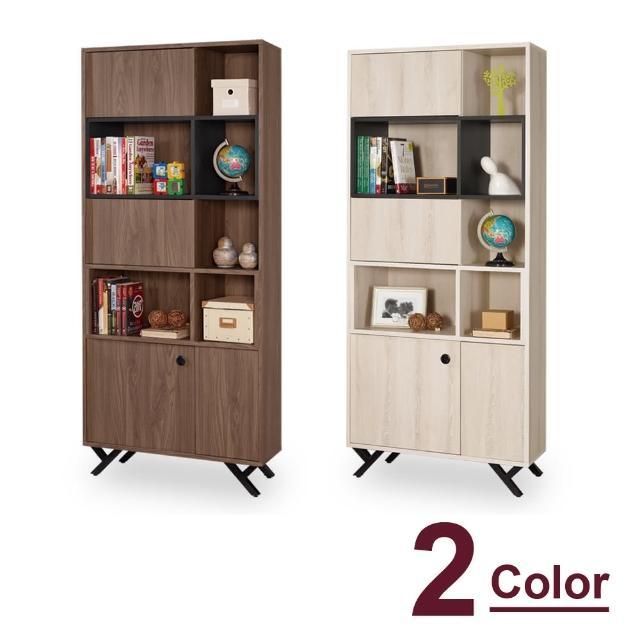 【時尚屋】約克2.7尺開門書櫥 C7-870-2(兩色可選 免組裝 免運費 書櫥)