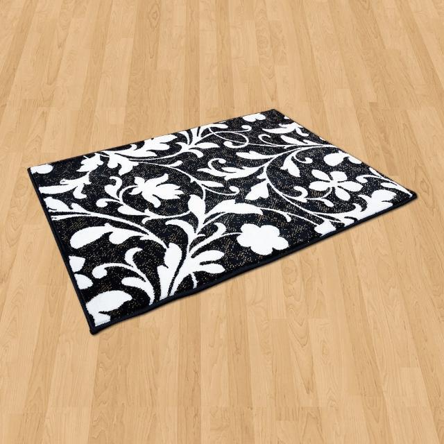【Ambience】比利時Palmas 玄關-床邊 絲光地毯(花蔓 68x110cm)